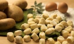 """gnocchi alla trentina"" potato dumplings, Trentino,  Italy, Europe"