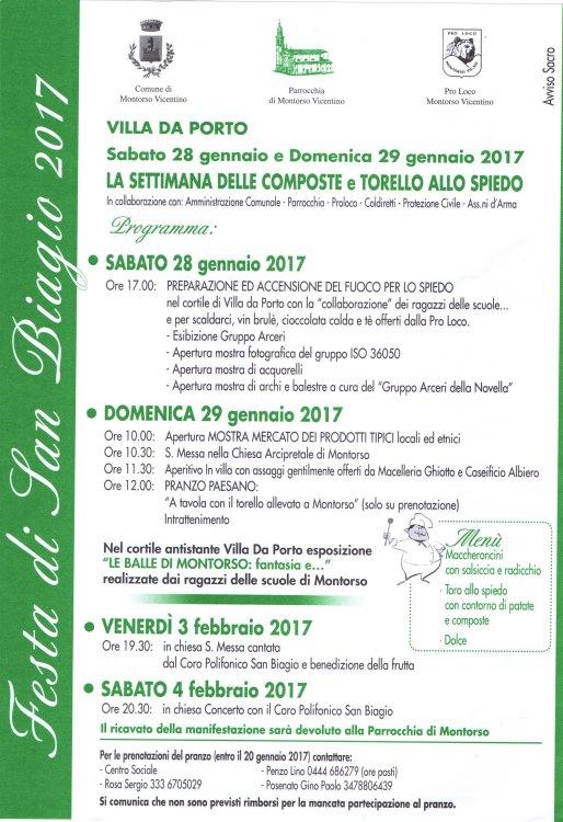 locandina festa s.biagio 2017