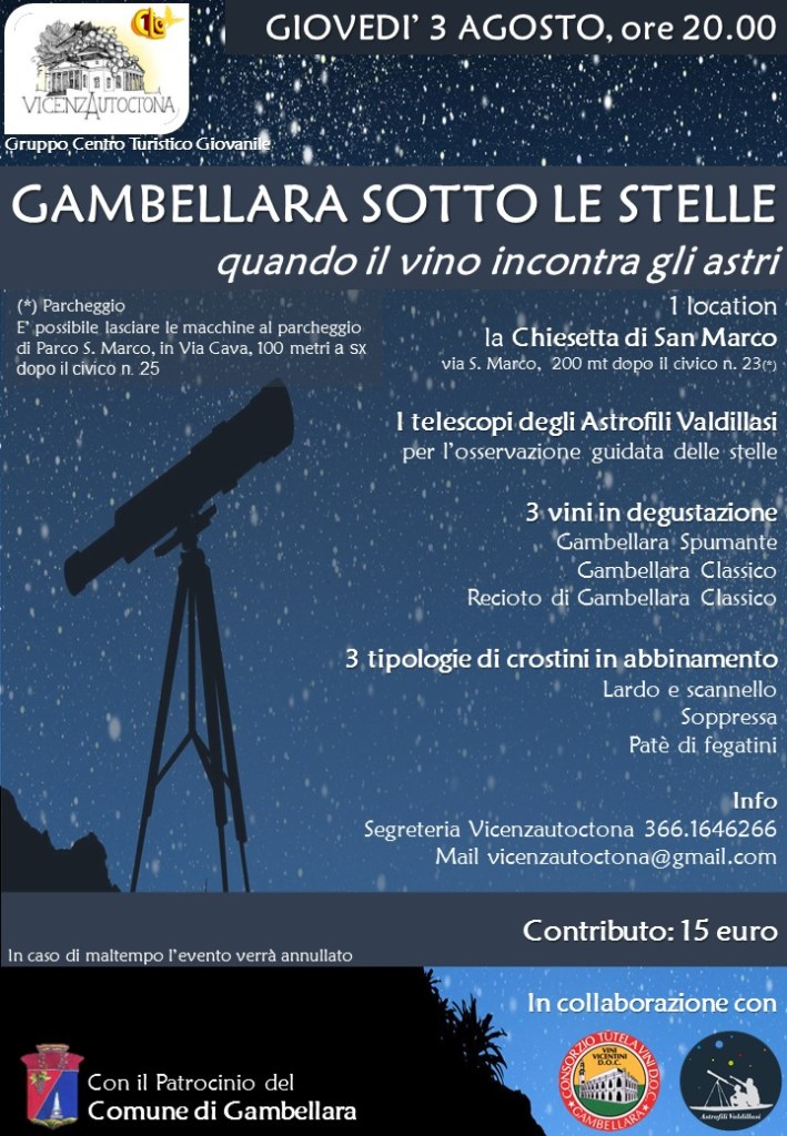 Gambellara sotto le stelle