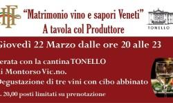 Matrimonio vino e sapori Veneti A tavola col Produttore 22.03.2018